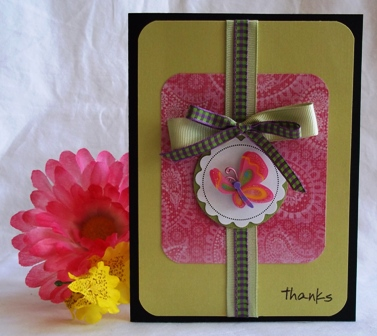 homemade thank you cards butterfly