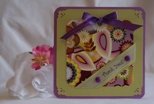paper card making ideas   thank you card