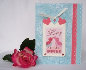 hand made card valentines day