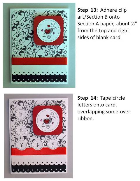 new year cards instructions